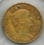Buy Mexico rare 5 Centavos 1956
