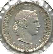 Buy Switzerland 10 Rappen 1981