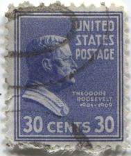 Buy 1938 Theodore Roosevelt 30c 2 Stamps Good Used Lightly Cancelled Prexies