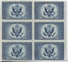 Buy 1935 16c Special Delivery Great American Seal Stamp Sheet 6 Stamps Imperforate