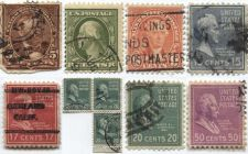 Buy 1890-1938 Lot of Presidential and Prexy 8 Different Fine Cancelled Difficult