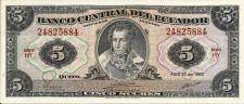Buy Ecuador 1983 Banknote 5 Sucres