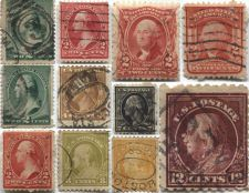 Buy 1887-1902 Washington & Franklin Used Stamps Lot all good used cancelled