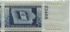 Buy 1946 3c Iowa Statehood Plate Block of 4 Mint Never Hinged Upper Right Corner