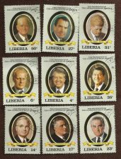 Buy Liberia US Presidents Set of 9 Stamps