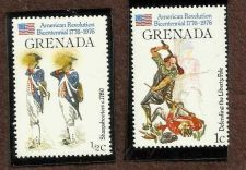 Buy Grenada 1976 ½c. American Revolution: Sharpshooters1976 1c. & Liberty Pole