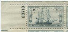 Buy 1947 3c Frigate Constitution Plate Block of 4 Mint Never Hinge Upper Left Corner
