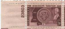 Buy 1948 3c Mississippi Territory Centennial Plate Block of 4 MNH Upper Left Corner