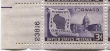Buy 1948 3c Wisconsin Block of 4 Connected Mint Never Hinged Lower Left Corner