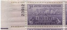 Buy 1948 3c Fort Kearny Centennial Block 4 Connected Mint NH Upper Left Corner