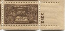 Buy 1948 3c Indian Centennial Block of 4 Connected Mint NH Lower Right Corner
