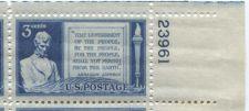Buy 1948 3c Gettysburg Address Plate Block of 4 Connected Mint NH Upper R Corner