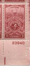 Buy 1948 3 Cents American Turners Block of 4 Connected Mint NH Lower Right Corner