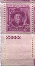 Buy 1948 3c Joel Harris Plate Block 4 Connected Mint Never Hinged Lower Left Corner