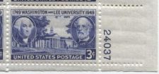 Buy 1949 3c Washington & Lee University Block 4 Connected Mint NH Lower Right Corner