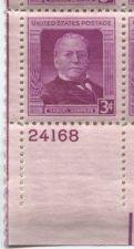 Buy 1950 3c Samuel Gompers Plate Block 4 Mint Never Hinged Lower Left Corner