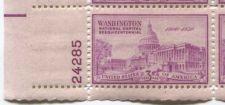 Buy 1950 3c US Capital Building Plate Block 4 Mint Never Hinged Lower Left Corner