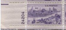 Buy 1950 3c Kansas City, Missouri Plate Block 4 Mint Never Hinged Lower Left Corner