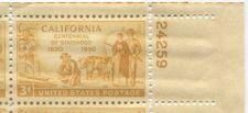 Buy 1950 3c California Statehood Plate Block of 4 Connected Mint NH Upper R Corner