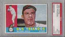 Buy 1960 Topps #60 Gus Triandos Baltimore Orioles PSA NM+ 7.5