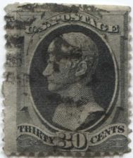 Buy 1873 30c Unwatermarked 30¢ Hamilton Fine Used unhinged stamp Rare! CV $105+