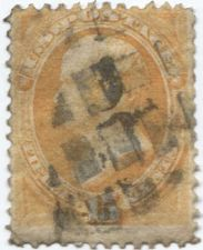 Buy 1873 15c Unwatermarked 15¢ Webster Fine Used unhinged stamp Rare! CV $110+
