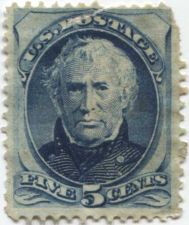 Buy 1875 5c Unwatermarked Zachariah Taylor Fine Used unhinged stamp Rare! CV $25+
