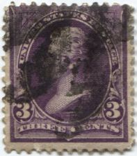 Buy 1895 3c Unwatermarked Jackson Fine Used previous hinge stamp Rare! CV $13.00+