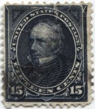 Buy 1895 15c Clay Indigo Fine Used unhinged stamp Rare! CV $20-75+