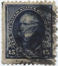 Buy 1890 15c Clay Indigo Fine Used unhinged stamp Rare! Sheet Edge! CV $30+