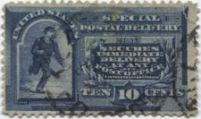 Buy 1888 10c Special Delivery Blue Fine Used hinged stamp Rare! CV $15.00+
