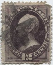Buy 1870 12c Clay Fine Fancy Cancelled Used unhinged stamp Rare! CV $110.00+