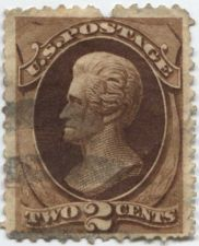 Buy 1873 2c Jackson Very Fine Fancy Lightly Cancelled Used unhinged Rare! CV $17.50