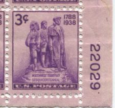 Buy 1938 3c Northwest Territory 150 Years Plate Block 4 Mint NH Lower Right Corner