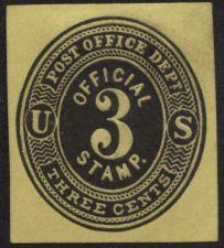 Buy 1873 3 cent Post Office Dept. Official Use Clean Corner Good Rare CV $16+