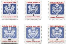 Buy 1980-90's 6 Stamp Lot Post Office Dept. Official Use Only Clean Good Rare CV $4+