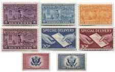 Buy 1927-57 Special Delivery Stamps Motorcycles, Hand Envelope and Great Seal!