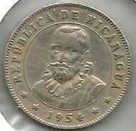 Buy Nicaragua 25 Centavos 1954 Mountains Sunrise