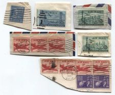 Buy 1930's+40's 2,3,5,12,15 & 25 Cent Air Mail Stamps Cancelled US Presidents Set 13