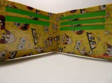 Buy HAND MADE DUCT TAPE WALLET YELLOW WITH SPONGEBOB ALL OVER IT