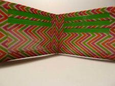 Buy HAND MADE DUCT TAPE WALLET WITH MULTI COLOR ZIG ZAGS ALL OVER IT