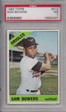 Buy 1966 Topps #412 Sam Bowens Baltimore Orioles PSA NM 7
