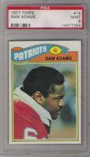 Buy 1977 Topps Football #14 Sam Adams PSA MINT 9 New England Patriots