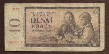 Buy Czechoslovakia, 10 Korun, 1960, P-88 (88b), Children Historic Eastern Bloc Note!