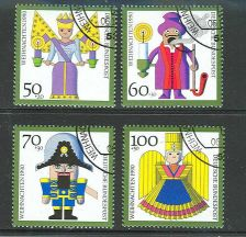 Buy GERMANY SCOTT# B697-700 COMPLETE USED SEMI POSTAL ISSUE SET OF 1990