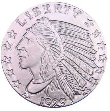 Buy SILVER BULLION ROUND INDIAN HEAD 1/10 oz .999 PURE SILVER INVESTMENT FREE S/H*