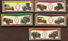 Buy Eq GUINEA -CARS - ANTIQUE AUTOS - Five Stamps VF Republick de Guinea Ecuatorial