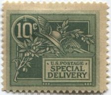 Buy 1908 10c Green Special Delivery Stamp Good Unused, Previously Hinged