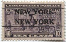 Buy 1922 10c Special Delivery Stamp Very Good Unused, Precancel New York, NY Serifs