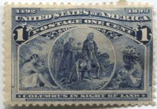 Buy 1893 1c Columbus in Sight of Land 1492-1892 Columbian Never Used Very Nice!